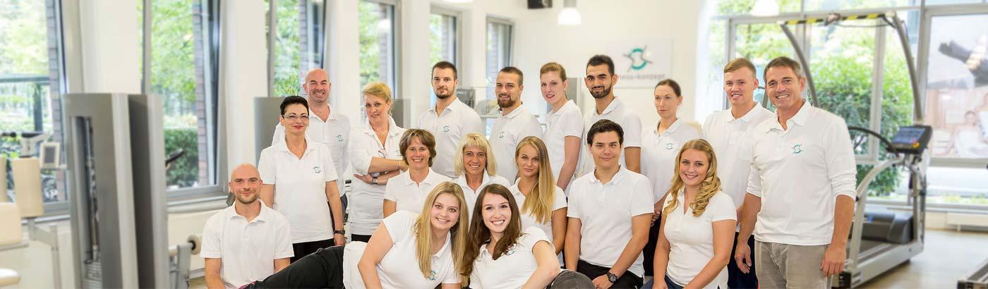 Unser engagiertes Team aus Physiotherapeuten und Sportwissenschaftlern